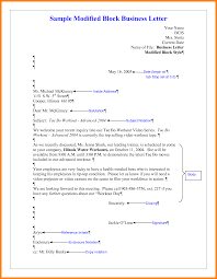 Business Letter Modified Block Style Format Best Regarding Resume