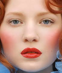 makeup of a porcelain doll