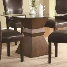top dining table with wood base bianca glass top dining table legged inspiring ideas rhcom round