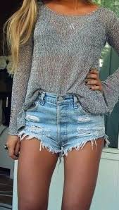Image result for high waisted shorts pintrest