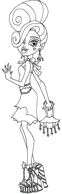 Small Picture monster high coloring pages printable monster high cleo bw by