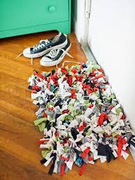 old t shirt rug