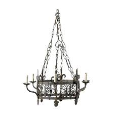 french vintage gothic style iron six light chandelier for