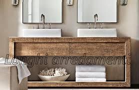 Bagno Legno Marmo : Mobile bagno legno massello naturale g