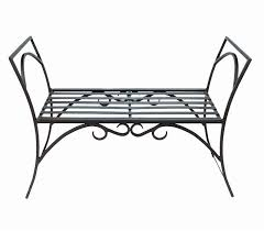 small garden benches wrought iron