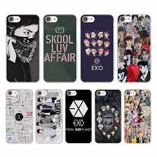 Exo Kpop band BTS boys Design hard White Skin Case for Apple