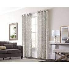 allen roth lar 95 in graphite cotton grommet light filtering single curtain panel