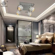 O New Iron LED Ceiling Spotlight Bedroom Modern Track Light White Warm  Lighting Minimalism Style Spot Lights Home Fixturein Spotlights From