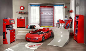 Interior Stunning Ideas Of Cute Room Decorations Design Marvellous Red Car  Shape Bed Frames And Fuel ...