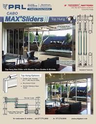 cabo max series top hung aluminum sliding door
