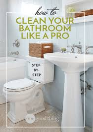 how to clean a bathroom like a pro
