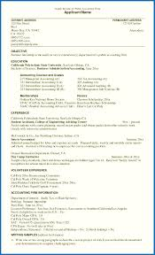 Objective For Resume Internship Accounting Resume Format India Cover ...