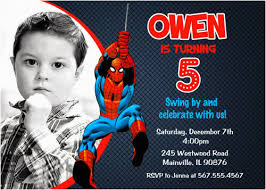 Personalized Superhero Birthday Invitations Personalized Spiderman Birthday Invitations Birthdaybuzz
