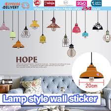 2018 new poster removable art vinyl e diy chandelier wall sticker decal mural room decor living