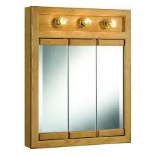 Medicine Cabinet With Light Tri View Medicine Cabinets Bathroom Cabinets Storage Bath
