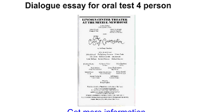 dialogue essay for oral test person google docs