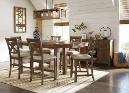morrivill cal beige color dining room set rectangular counter dining table set for 6