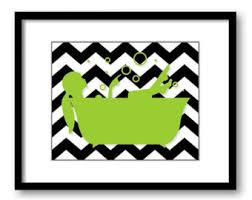 lime green bathroom wall decor