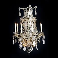 a french louis xvi rock crystal chandelier