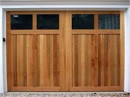 single garage doorCustom Cedar Garage Doors  On Track Garage Door Service