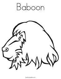 Small Picture Baboon Coloring Page Twisty Noodle