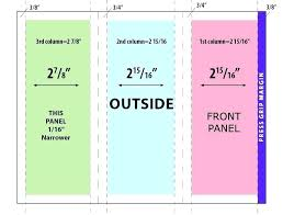 11x17 Trifold Template Indesign Bifold Template Simple Fold Brochure Free Template
