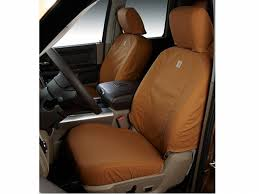 covercraft carhartt seat covers brown in front