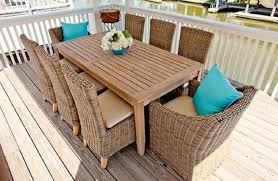 outdoor dining table with wicker chairs umbrella hole diy outdoor wood dining table round