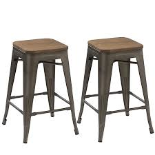 distressed metal furniture. BTEXPERT® 24-inch Industrial Antique Copper Distressed Metal Stackable  Dining Modern Steel Bar Stools Distressed Metal Furniture ,