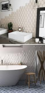 bathroom tile ideas install 3d tiles to add texture to your bathroom hexagonal
