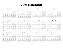 This template is available as editable word / pdf / jpg document. 2021 Year Calendar With The Week Starting On Monday