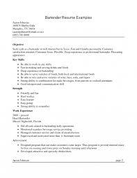 Fascinating Resumebjective Bartending Positionn Bartenders Job