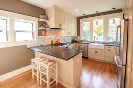 Bathroom : Fetching Amish Kitchen Peninsula Encircle Design And ...
