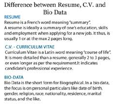 stunning biodata vs resume ideas simple resume office templates