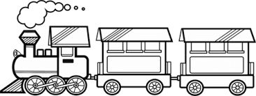 Small Picture Train with two carriages coloring page Free Printable Coloring Pages