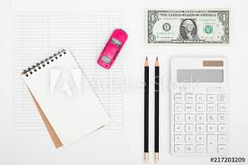 Car Expenses Calculator Payments Costs With Paper Notes