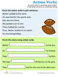 Verb Action Use An Action Verb Lesson Plan Education Com