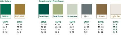Colors That Match Green illinois wesleyan: color palettes