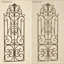 Distressed <b>Antique Vintage Victorian</b> Scroll <b>Wrought Iron</b> Wall Grille ...