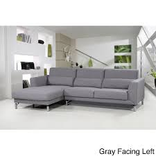 Modern sectional sofa Fabric Aria Fabric Modern Sectional Sofa Set Overstock Shop Aria Fabric Modern Sectional Sofa Set Free Shipping Today