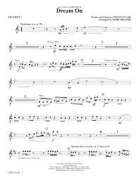 sheet music direct us dream on trumpet 1 sheet music direct