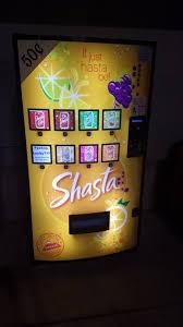 Shasta Vending Machine Extraordinary This Shasta Machine Has A Random Flavor Button For Those Feeling