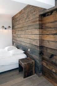 barn wood bedroom wall and sliding door