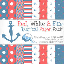 Free Nautical Digital Scrapbooking Paper Pack Part 1 The Cottage