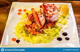 Chilean King Crab salad stock photo ...
