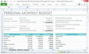 sample personal budget personal monthly budget worksheet excel sample personal monthly