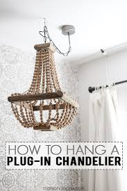 how to hang a plug in chandelier this is great step by step tips