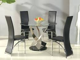 small glass dining room tables small round dining table and 4 chairs decor of small glass
