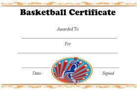 Free Printable Basketball Certificate Template Basketball
