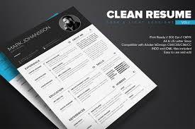 Clean Indesign Resume Template Dealjumbo Com Discounted Design